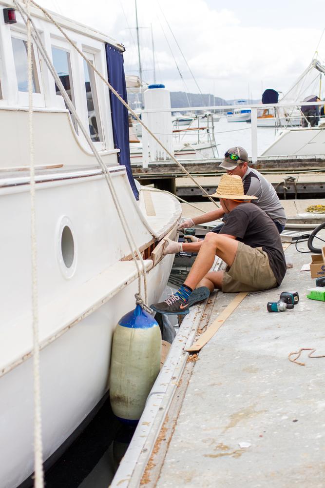 Timber Boat Restoration & Repair   Careel Bay Marina