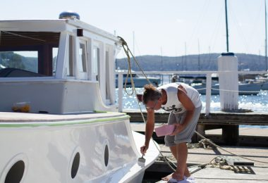 Careel Bay Marina paint services
